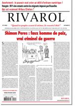 Rivarol n°3252 du 6/10/2016 (Papier)