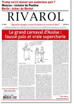 Rivarol n°3250 du 22/9/2016 (Papier)