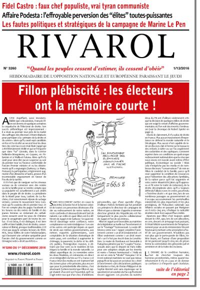 Rivarol n°3260 version numérique (PDF)