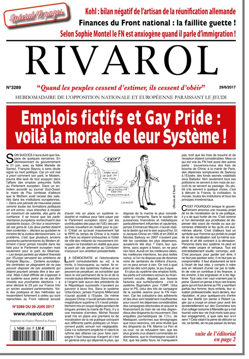 Rivarol n°3289 version numérique (PDF)