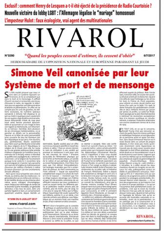 Rivarol n°3290 version numérique (PDF)