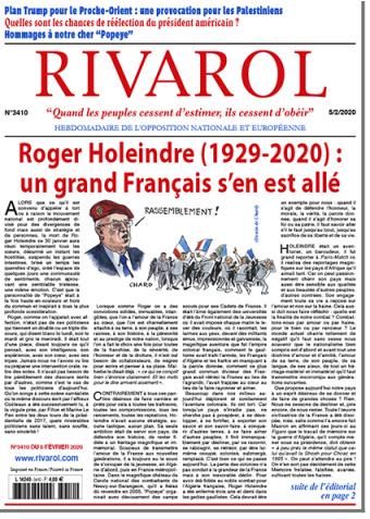 Rivarol n°3410 du 5/2/2020 (Papier)