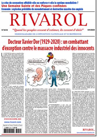 Rivarol n°3419 du 8/4/2020 (Papier)