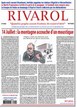 Rivarol n°3433 du 16/7/2020 (Papier)