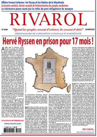 Rivarol n°3439 du 25/9/2020 (Papier)