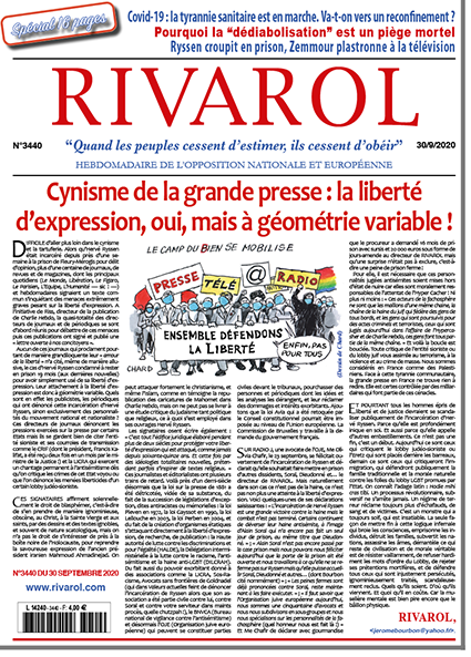 Rivarol n°3440 du 30/9/2020 (Papier)