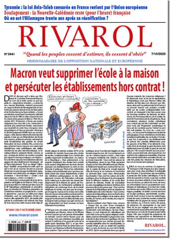 Rivarol n°3441 du 7/10/2020 (Papier)