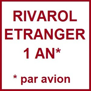 RIVAROL ETRANGER 1 AN PAR AVION