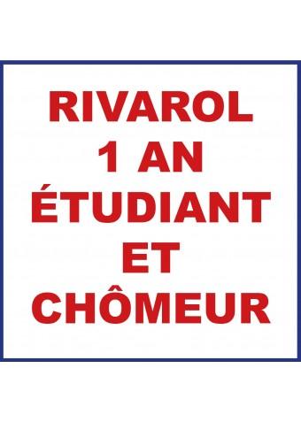 RIVAROL 1 an étudiant et chômeur