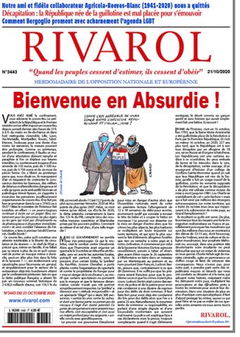 Rivarol n°3443 du 21/10/2020 (Papier)