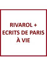 Rivarol + Ecrits de Paris à...