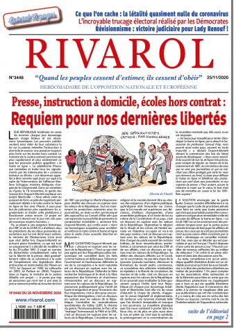 Rivarol n°3448 du 25/11/2020 (Papier)