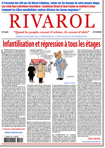 Rivarol n°3448 du 2/12/2020