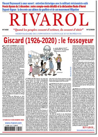 Rivarol n°3450 du 9/12/2020