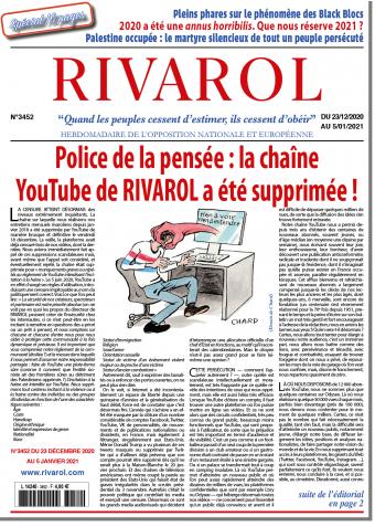 Rivarol n°3452 du 23/12/2020