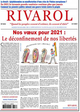 Rivarol n°3453 du 6/1/2021