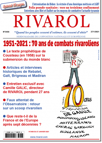 Rivarol n°3456 du 27/1/2021