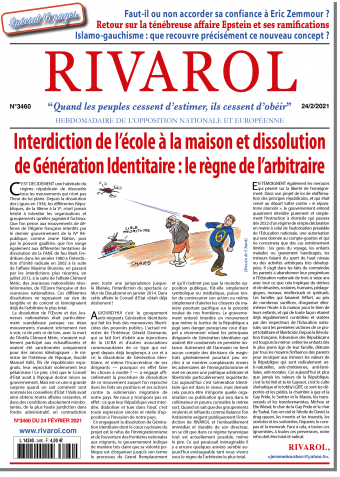 Rivarol n°3460 du 24/2/2021