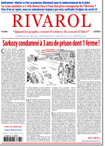 Rivarol n°3461 du 3/3/2021...