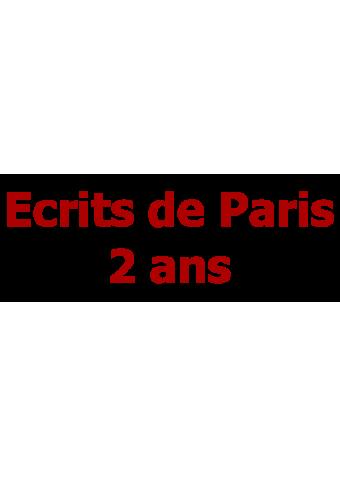 Ecrits de Paris 2 ans