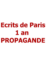 Ecrits de Paris 1 an PROPAGANDE
