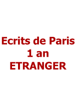 Ecrits de Paris 1 an ETRANGER