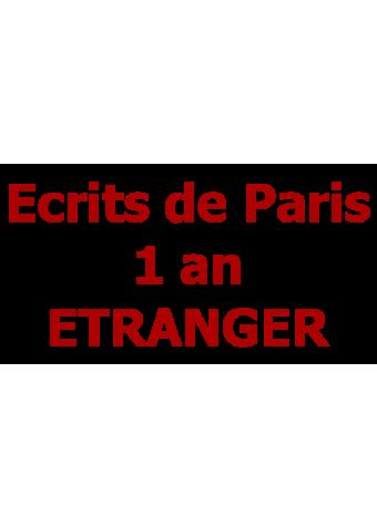 Ecrits de Paris 1 an ETRANGER