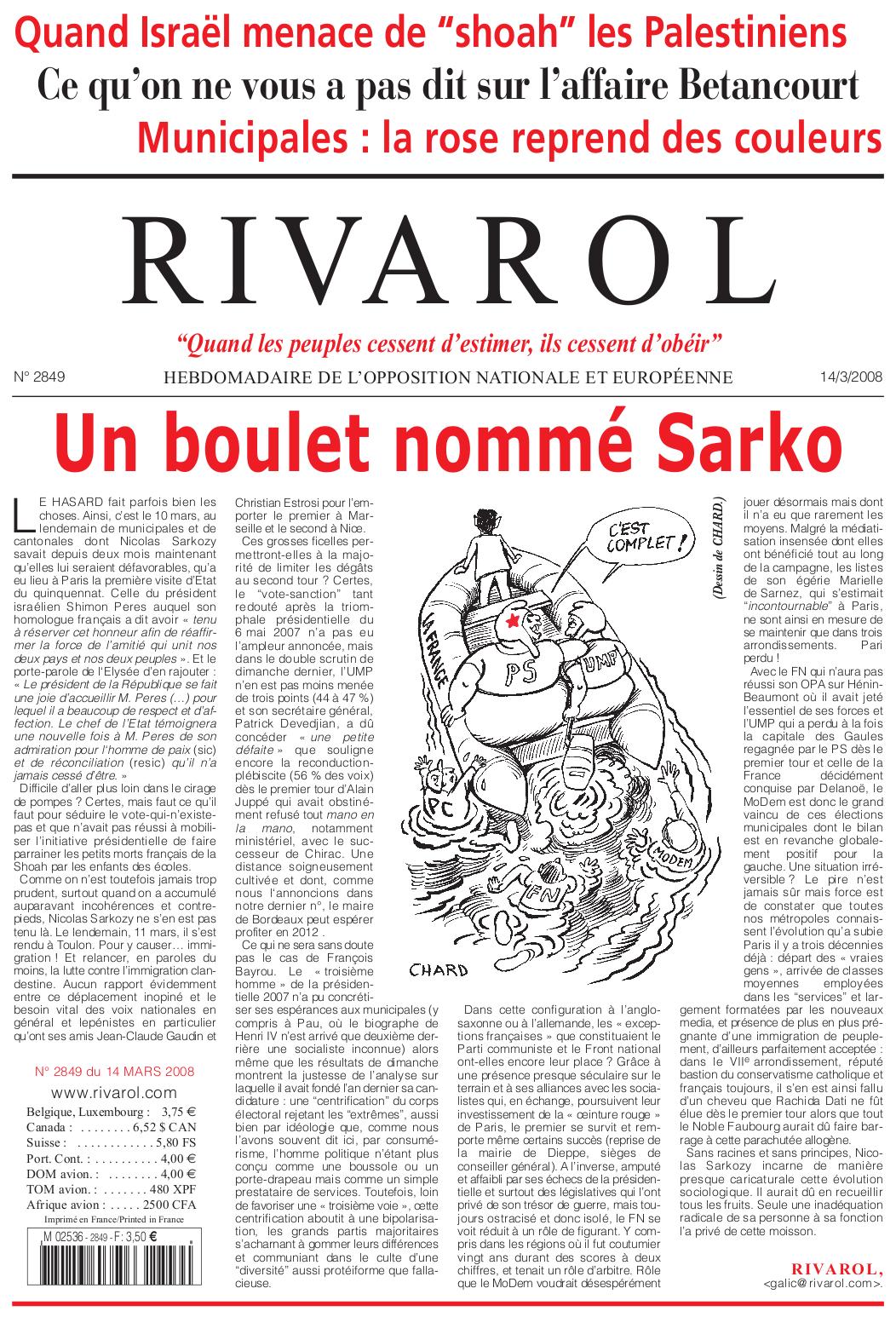 Rivarol n°2849 version numérique (PDF)