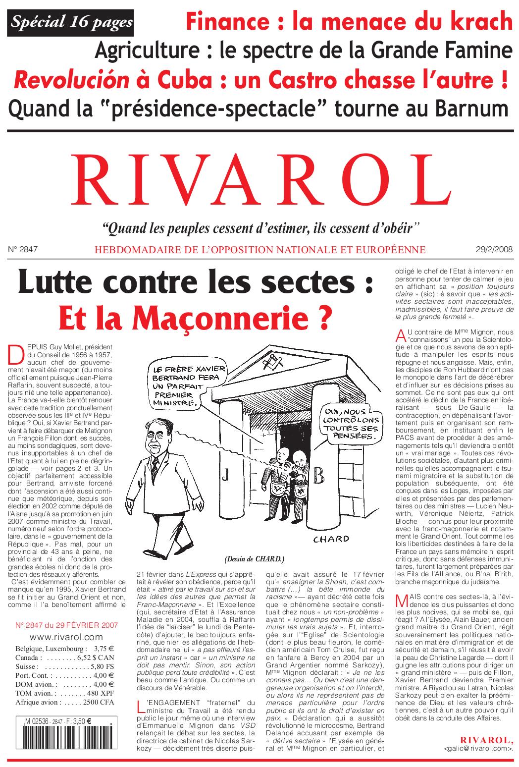 Rivarol n°2847 version numérique (PDF)