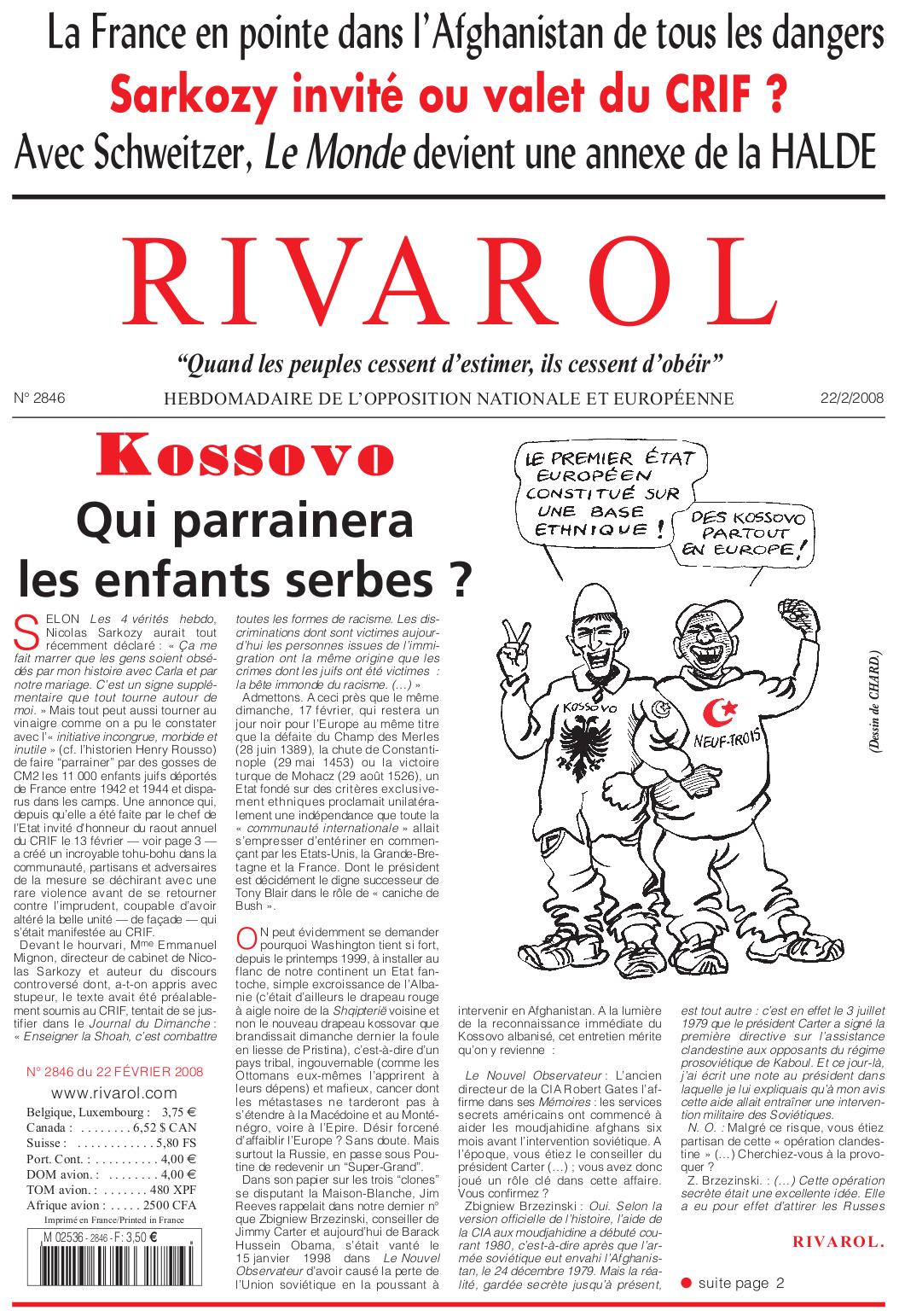 Rivarol n°2846 version numérique (PDF)