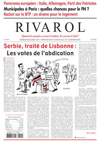 Rivarol n°2844 version numérique (PDF)