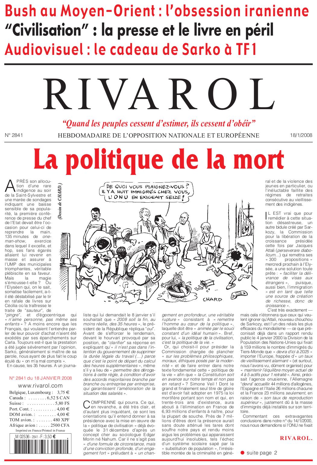 Rivarol n°2841 version numérique (PDF)