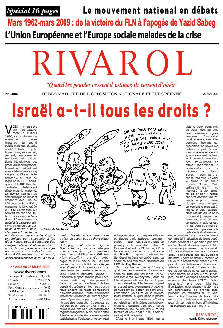 Rivarol n°2898 version numérique (PDF)