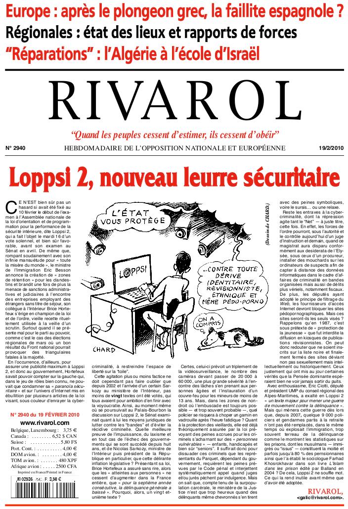 Rivarol n°2940 version numérique (PDF)