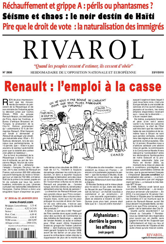 Rivarol n°2936 version numérique (PDF)