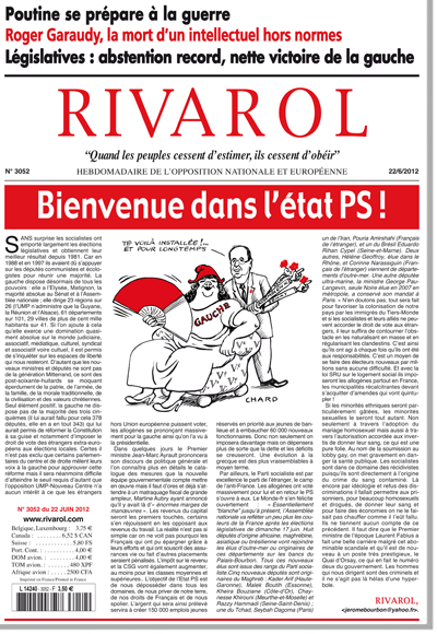 Rivarol n°3052 version numérique (PDF)