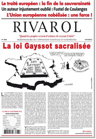 Rivarol n°3065 version numérique (PDF)