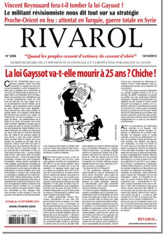 Rivarol n°3206 version numérique (PDF)