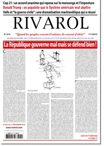 Rivarol n°3215 version numérique (PDF)